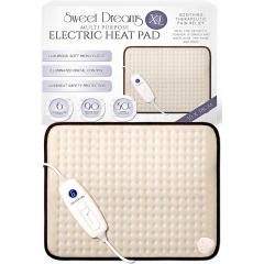 Sweet Dreams Luxury XL Electric Heat Pad with 6 Heat Settings