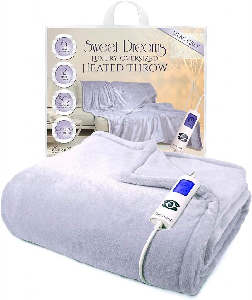 sweet dreams lilac grey throw